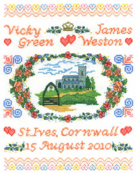 Church Wedding Sampler Cross Stitch Kit